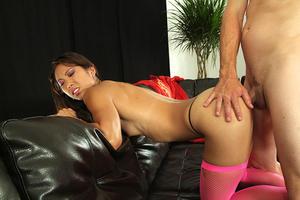 Katreena Lee Sex In Pink Fishnets