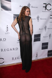 Maitland Ward at Adolfo Sanchez Fashion Show in Hollywood 10/20/14 - See-Thru Nips & ***