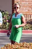 Britney Spears braless in gree dress shows big pokies in Malibu
